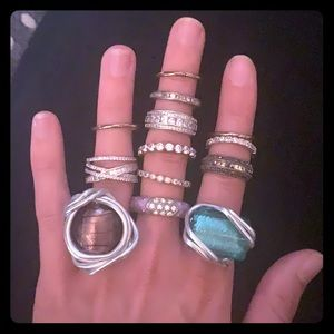 Lot of fashion jewelry- rings